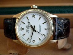 Beautiful 1950′s Solid 18ct Gold Rolex Oyster Perpetual Gents Vintage Watch