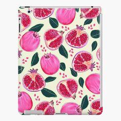 'pomegranates' iPad Case/Skin by Nici-Gabriel Gabriel, Framed Prints, Canvas Prints, Art Prints, Iphone Wallet, Iphone Cases, Designs, Pomegranate, Ipad Case