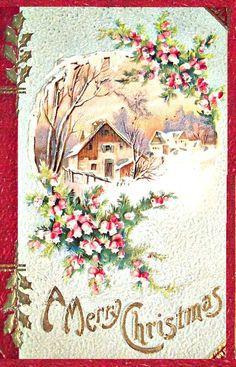Old time christmas cards Vintage Christmas Images, Old Fashioned Christmas, Christmas Scenes, Christmas Past, Victorian Christmas, Retro Christmas, Vintage Holiday, Christmas Pictures, Christmas Greetings