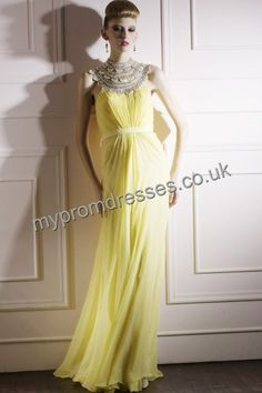 Floor Length Off-the-shoulder Yellow Tulle A-line Evening Dress  http://www.mypromdresses.co.uk