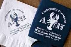 "I LOVE the ""Branding"" idea.  Doing a logo on everything including. Napkins and koozies"