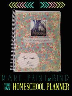 Charlotte Mason homeschool planner, a free printable