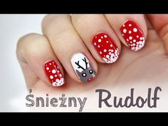 ♦ Zimowe i świąteczne paznokcie - renifer w śniegu ♦ Manicure, Nails, Make Up, Youtube, Pure Nail Bar, Finger Nails, Maquillaje, Ongles, Nail Polish