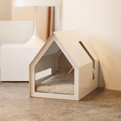 Pet Beds, Dog Bed, Feral Cat House, Modern Dog Houses, Dog Furniture, Dog Rooms, Pet Home, Dog Crate, Animal House