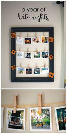 Make a year of date nights as the perfect gift for your loved one. Create a super easy, yet adorable, year of date nights display using a few items you already have.