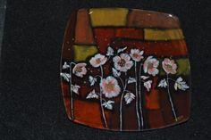 Peinture sous verre. Avec des pigments à 560°, 4 cuissons. http://www.idporcelaine.net/ Atelier IDPorcelaine et Bijou  Lançon-Provence