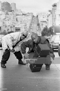 Gang Starr, Guru and DJ Premier, San Fransisco, United States, 1991.