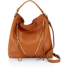 Rebecca Minkoff Moto Hobo (2,545 EGP) ❤ liked on Polyvore featuring bags, handbags, shoulder bags, alice fabray, hobo purse, handbags shoulder bags, man bag, hobo shoulder bag and brown hobo handbags