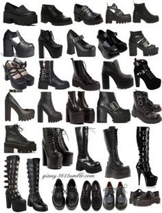 Pin by Yahima Garcia on Dark / Witchy fashion. Egirl Fashion, Teen Fashion Outfits, Edgy Outfits, Mode Outfits, Grunge Outfits, Gothic Fashion Shoes, Fashion Terms, Aesthetic Grunge Outfit, Aesthetic Shoes