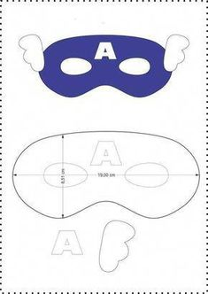Beautiful masks for children& parties from felt - Free templates ★★ â . Sewing For Kids, Diy For Kids, Crafts For Kids, Captain America Maske, Capitan America Mascara, He Man Tattoo, Anniversaire Captain America, Captain America Birthday, Felt Mask