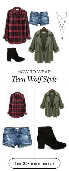 """""""Malia Tate ( Teen Wolf ) outfit"""" by radkabalogova on Polyvore featuring Madewell, Steve Madden and Chicnova Fashion"""