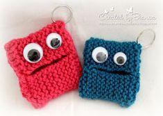 Handmade by Bianca: key monster - I& now learning to knit! : Handmade by Bianca: key monster – I& now learning to knit! Loom Knitting Projects, Easy Knitting Patterns, Knitting For Kids, Knitting For Beginners, Baby Knitting, Crochet Toys, Knit Crochet, Yarn Bombing, Handicraft