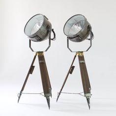 vintage flood lights