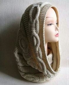 70 Trendy Ideas For Knitting Scarf Pattern Infinity Knit Cowl, Cowl Scarf, Cable Knit, Knit Crochet, Crochet Hats, Cowl Neck, Knitting Stitches, Knitting Patterns Free, Knit Patterns
