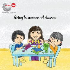 Our parents can't deal with us at home all day so they find the best summer classes and enroll us into one. Swimming classes, art classes, sloka class, typewriting, chess class, badminton class, music class and what not! But the truth is we make new friends and learn a new art during summer classes.