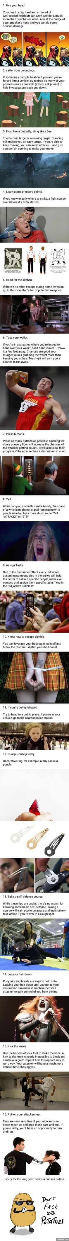 16 Tips That Might Save Your Life Someday