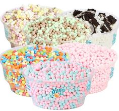 From the first time I tried these little frozen delights at Six Flags I was hooked. Dippin' Dots ! Yum!