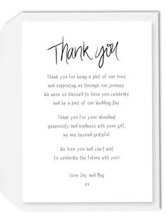 7 Best Wedding Thank You Cards Wording Images