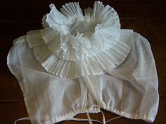 A highly ruffled chemisette