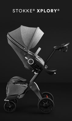 The Stokke® Xplory® stroller is now available with an all black chassis. Inspired by the unique silhouette and innovation of the stroller itself, the all black chassis makes the iconic design of the Stokke® Xplory® even more striking and stylish for mom and baby.