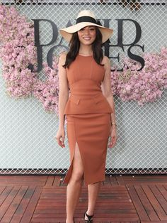 Fashion and fun at Caulfield Jessica Gomes. Picture: Julie Kiriacoudis