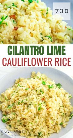 easy and delicious cauliflower rice is low carb and keto friendly. Makes a great side dish for any Mexican recipe!This easy and delicious cauliflower rice is low carb and keto friendly. Makes a great side dish for any Mexican recipe! Low Carb Dinner Recipes, Keto Dinner, Brunch Recipes, Diet Recipes, Cooking Recipes, Healthy Recipes, Easy Recipes, Cooking Chef, Sausage Recipes