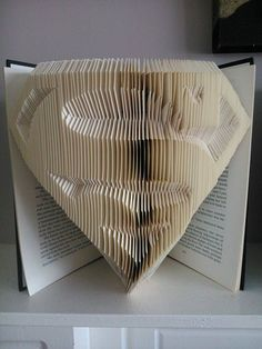 Superman Free Book Folding Pattern                                                                                                                                                      More