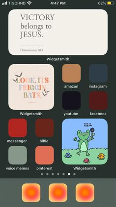 fall themed home screen idea- widgets, wallpaper, and app colors on slides!