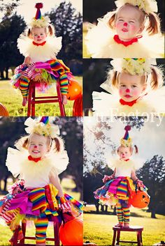 """How to make """"Scrappy TuTu Clown"""" costume. Step by step instructions with photos. So easy and fun. A great last minute costume #tutu #halloween #clown #diy #costume"""