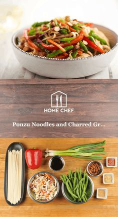 This isn't your mother's stir-fry. This isn't some fly-by-night with an old packet of soy sauce tossed in for a bit of flavor. This tasty mix of vegetables and noodles is highlighted by ponzu, a tart citrus-y sauce that's balanced with a burst of Sriracha heat and a touch of sugar. The charred green beans and bell pepper add further flavor and texture to a meal that leaves all other stir-fries in the dust.