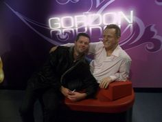 Henk-Jan en Gordon in Madame Tussauds Amsterdam