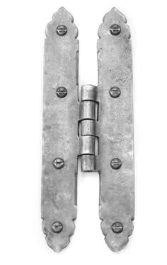 Louis Fraser 505 Large H Hinges - Pewter Finish - These Louis Fraser 505 Large H Hinges have a beautiful pewter finish which highlights the texture of the casting. Also available in a pewter or bronze finish. Gate Hinges, Door Furniture, Knobs And Handles, Shelf Brackets, Door Knobs, Bronze Finish, Pewter, Highlights, It Cast