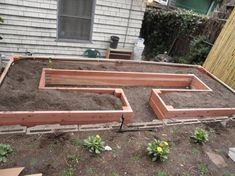Great Idea for building raised garden beds- made in the shape of a C  ~ More gardening area and less materials.