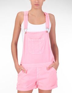 Pink overalls for a sweet look
