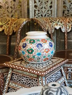 Traditional Vases, Agra, Marble, Colorful, Home Decor, Decoration Home, Room Decor, Granite, Marbles