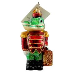 Radko SNAPPY HOTEL 1011061 Ornament Travel Alligator New