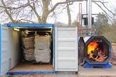 Treeline Installs a Log Drying Kiln Kiln Dried Firewood, Kiln Dried Wood, Biomass Boiler, Wood Fuel, Kiln Dry, Tree Line, Hardwood, Pictures, Natural Wood