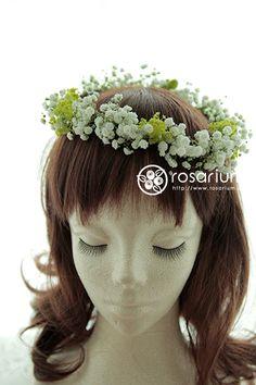 No.af0028・フラワーアクセサリー(生花)   rosarium