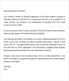 letter of recommendation for graduate school from employer g in