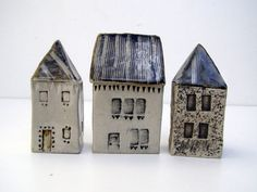 Small blue roofed houseOOAK by BlueMagpieDesign on Etsy, $26.50