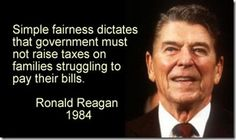 One of President Ronald Reagan's better quotes… Still not a total supporter though…