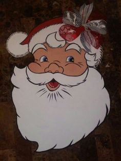 Merry Santa Claus wooden door hanger...can't wait to display it in December.
