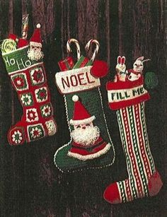 Christmas Stockings to Knit and Crochet from Our Archives   Family Circle (2 crochet/1knit)