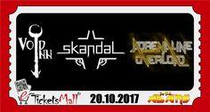3 групи ще свирят в Бар клуб Адамс на 20 октомври: Void Inn, Skandal & Adrenaline Overload. Предварителната продажба на билети с намаление през https://www.eTicketsMall.com приключва в деня преди концерта. В деня на концерта билети ще се продават само на входа. Вземи #билет за Void Inn, Skandal & Adrenaline Overload: https://www.eticketsmall.com/product_info.php?products_id=872&language=bg