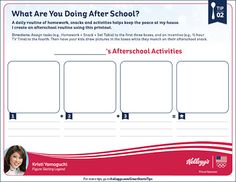 Printable after school routine chart | Mamanista!