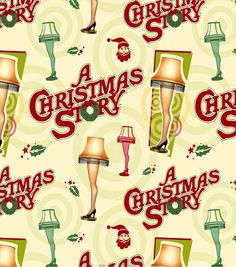 Holiday Inspirations Christmas Fabric-Christmas Story Leg Lamp