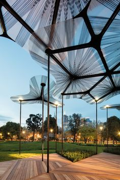 Amanda Levete Architects use Queensland resin and Finish carbon fibre for new forest canopy pavilion. Amanda Levete Architects use Queensland resin and Finish carbon fibre for new forest canopy pavilion. Backyard Canopy, Canopy Outdoor, Outdoor Pergola, Pergola Ideas, Wood Pergola, Backyard Lighting, Backyard Patio, Open Architecture, Landscape Architecture