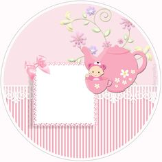 """Custom Kit """"Baby Tea"""" girl for Print - Digital Invitations Simple Baby Tea, Baby Frame, Congratulations Baby, Baby Stickers, Baby Images, Decoupage Paper, Baby Scrapbook, Digital Invitations, Baby Shower Parties"""