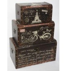 Baules antiguos París marrón Trunks And Chests, Vintage Suitcases, Decoupage Vintage, Paint Effects, Pretty Box, Vintage Box, Wood Crafts, Painted Furniture, Crates