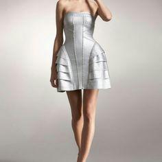 Bandage dress Metallic bandage dress Herve Leger Dresses